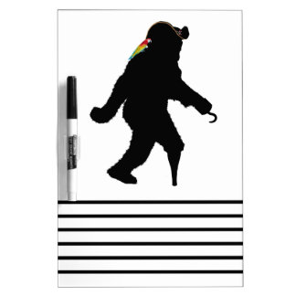 Gone Squatchin' Fer Buried Treasure Dry Erase Boards
