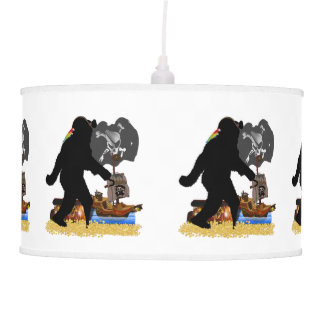 Gone Squatchin' Fer Buried Treasure Ceiling Lamps