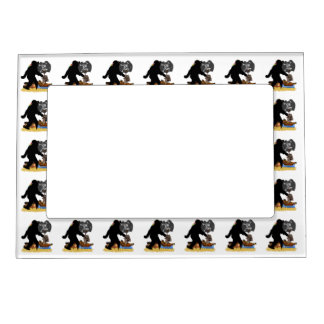 Gone Squatchin Fer Buried Treasure Magnetic Picture Frame