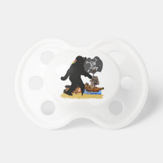 Gone Squatchin' Fer Buried Treasure Baby Pacifiers