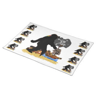 Gone Squatchin Fer Buried Treasure Placemat