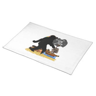 Gone Squatchin Fer Buried Treasure Placemats