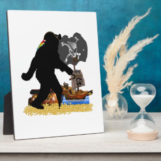 Gone Squatchin' Fer Buried Treasure Photo Plaques