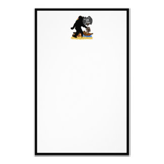 Gone Squatchin' Fer Buried Treasure Customized Stationery