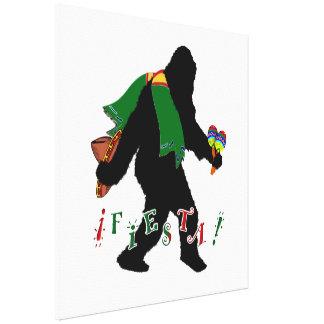 Gone Squatchin - Fiesta Squatchin Gallery Wrap Canvas