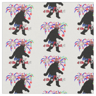 Gone Squatchin  for 4th of July Fabric