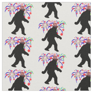 Gone Squatchin' for 4th of July Fabric