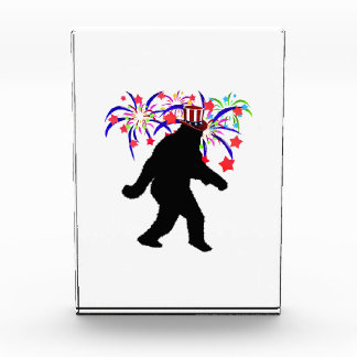 Gone Squatchin for 4th of July Fireworks Acrylic Award