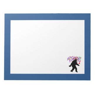 Gone Squatchin for 4th of July Fireworks Notepad