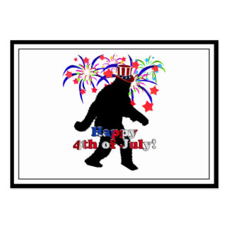 Gone Squatchin  for 4th of July (Text & Fireworks) Large Business Cards (Pack Of 100)