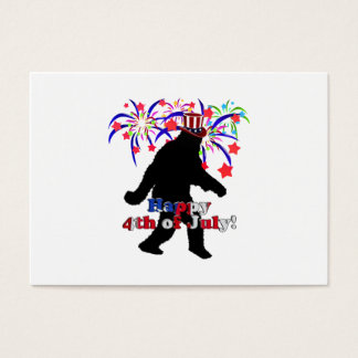 Gone Squatchin  for 4th of July (Text & Fireworks) Business Card