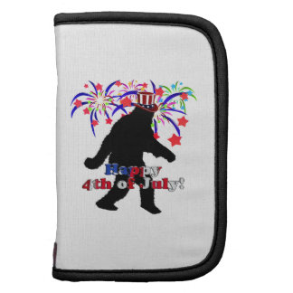 Gone Squatchin  for 4th of July (Text & Fireworks) Folio Planners