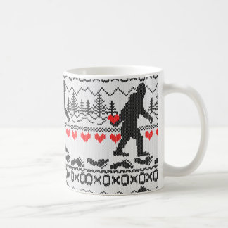 Gone Squatchin For Love Ugly Knit Style Coffee Mug