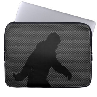 Gone Squatchin For on Carbon Fiber Print Laptop Sleeve