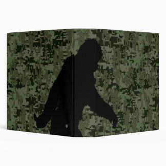 Gone Squatchin For on Olive Digital Camouflage 3 Ring Binder