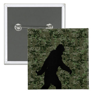 Gone Squatchin For on Olive Digital Camouflage 2 Inch Square Button