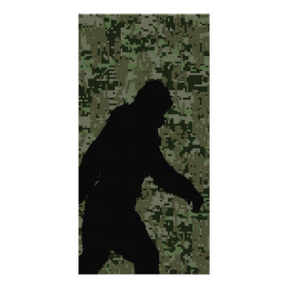 Gone Squatchin For on Olive Digital Camouflage Card