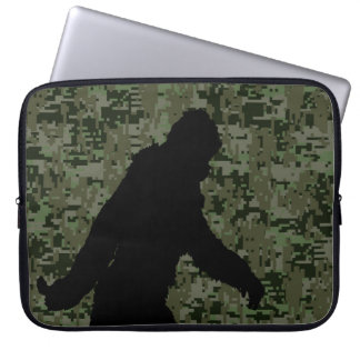 Gone Squatchin For on Olive Digital Camouflage Laptop Sleeve