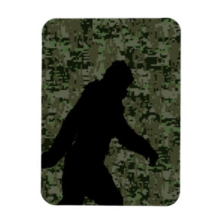 Gone Squatchin For on Olive Digital Camouflage Rectangular Photo Magnet