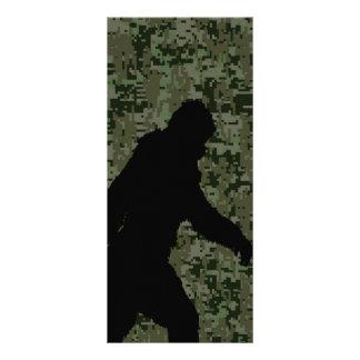 Gone Squatchin For on Olive Digital Camouflage Rack Card