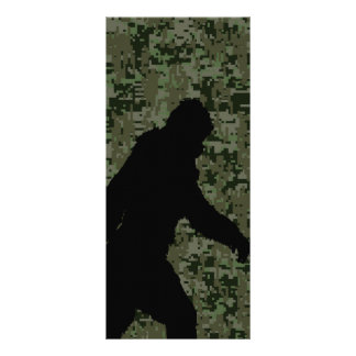 Gone Squatchin For on Olive Digital Camouflage Customized Rack Card