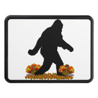 Gone Squatchin for Thanksgiving Turkey Dinner Trailer Hitch Cover