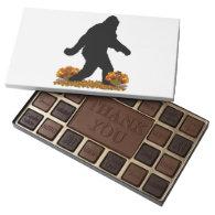 Gone Squatchin for Thanksgiving Turkey Dinner 45 Piece Box Of Chocolates