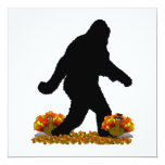 Gone Squatchin for Thanksgiving Turkey 5.25x5.25 Square Paper Invitation Card