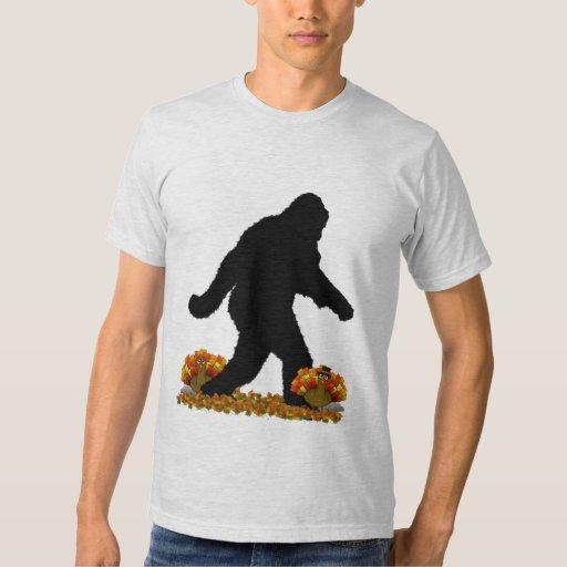 Gone Squatchin for Thanksgiving Turkey T Shirts