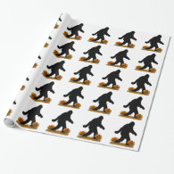 Gone Squatchin for Thanksgiving Turkey Wrapping Paper