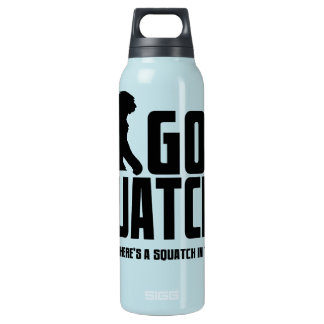 Gone Squatchin - Funny Bigfoot Believer Insulated Water Bottle