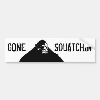 Gone Squatchin Funny Bigfoot Bumper Sticker