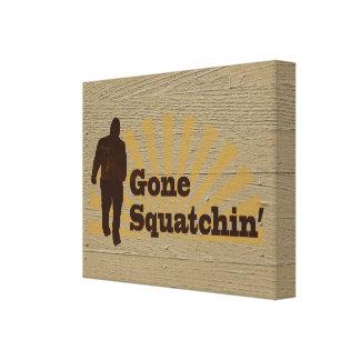 Gone Squatchin Funny Bigfoot Sasquatch Gallery Wrap Canvas