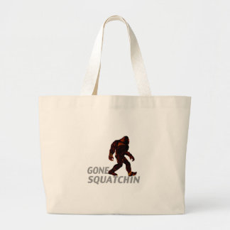 Gone Squatchin Gifts T-shirts Large Tote Bag