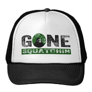 Gone Squatchin (Green) Grunge Squatch Trucker Hats