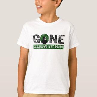 Gone Squatchin (Green) Grunge Squatch T-Shirt