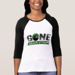 Gone Squatchin (Green) Grunge Squatch T Shirt
