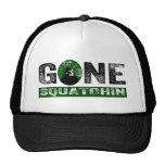 Gone Squatchin (Green) Grunge Squatch Trucker Hat
