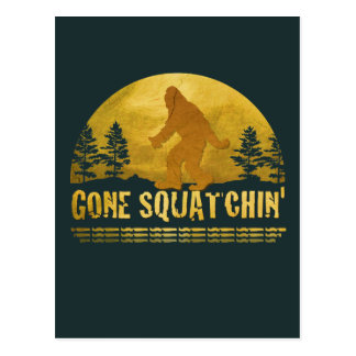 Gone Squatchin' Green Postcard