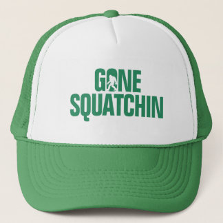Gone Squatchin - Green / White Silhouette Trucker Hat