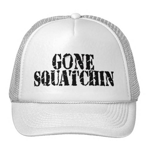 Gone Squatchin Hat (black and white)