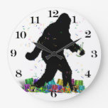 Gone Squatchin' In The New Year Clock