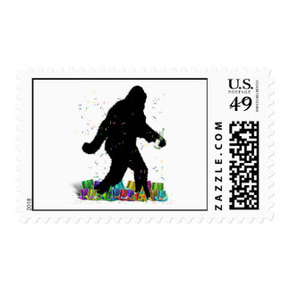 Gone Squatchin' In The New Year Postage Stamps