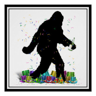 Gone Squatchin' In The New Year Perfect Poster