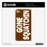 GONE SQUATCHIN iPhone 4/4S Skin Skins For The iPhone 4S