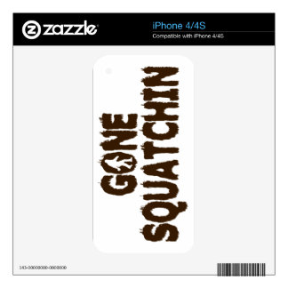 GONE SQUATCHIN iPhone 4/4S Skin Skin For The iPhone 4S