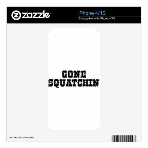 GONE SQUATCHIN iPhone 4 DECALS