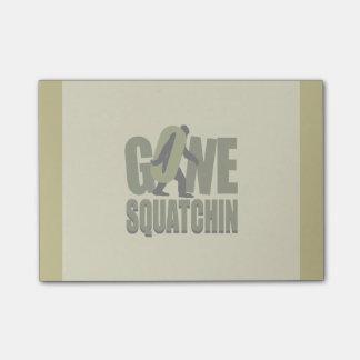 Gone Squatchin Kaki Customize This Post-it® Notes