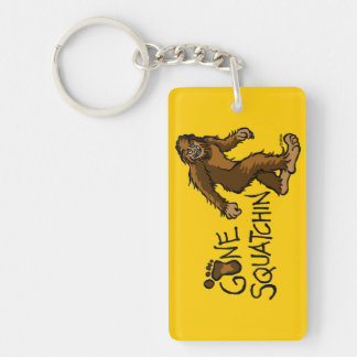 Gone Squatchin Rectangle Acrylic Keychain