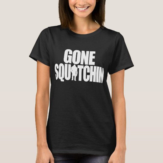 Gone Squatchin Ladies Baby Doll T-Shirt